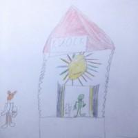Рисунки учеников первых классов школы №8 города Коркино